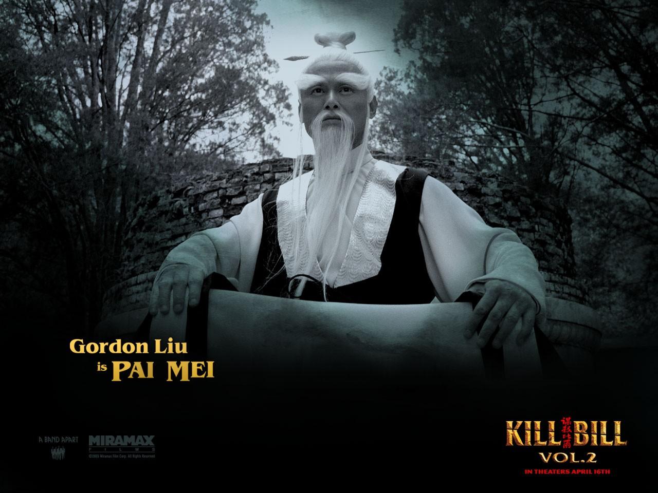 Un wallpaper di Chia Hui Liu che interpreta Pai Mei nel film 'Kill Bill: Volume 2'