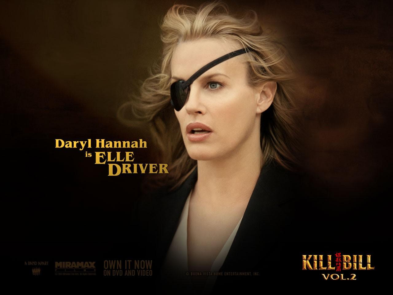 Un wallpaper di Daryl Hannah che interpreta Elle Driver nel film 'Kill Bill: Volume 2'