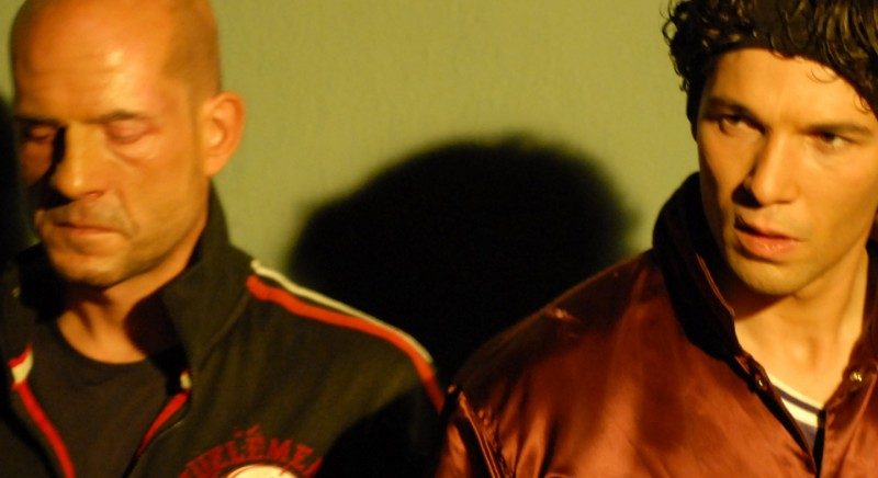 Gianmarco Tognazzi e Francesco Venditti in un'immagine del film Polvere