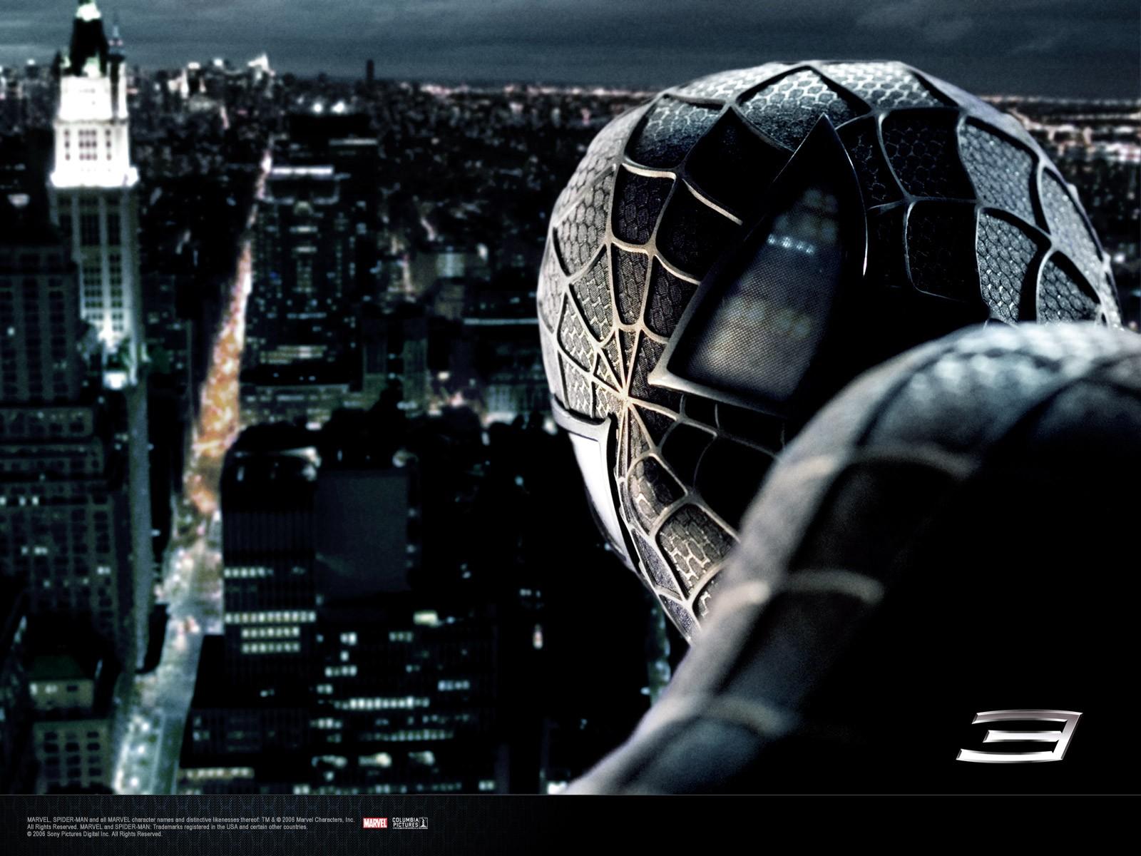 Un primo piano di Spiderman oscuro nel film 'Spider-Man 3'