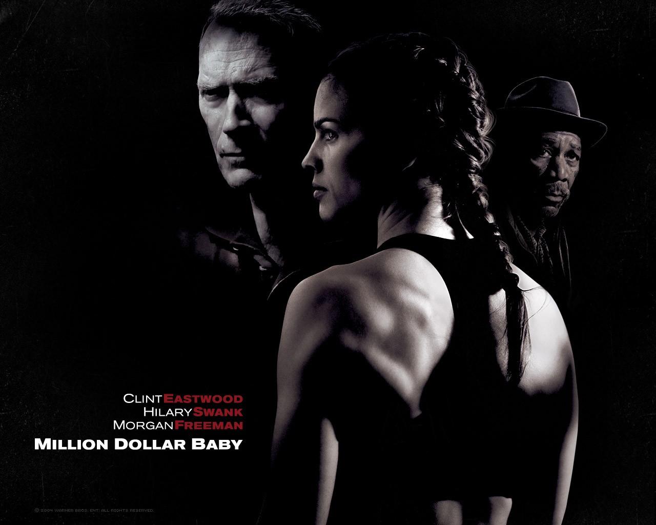 Un wallpaper del film 'Million Dollar Baby'