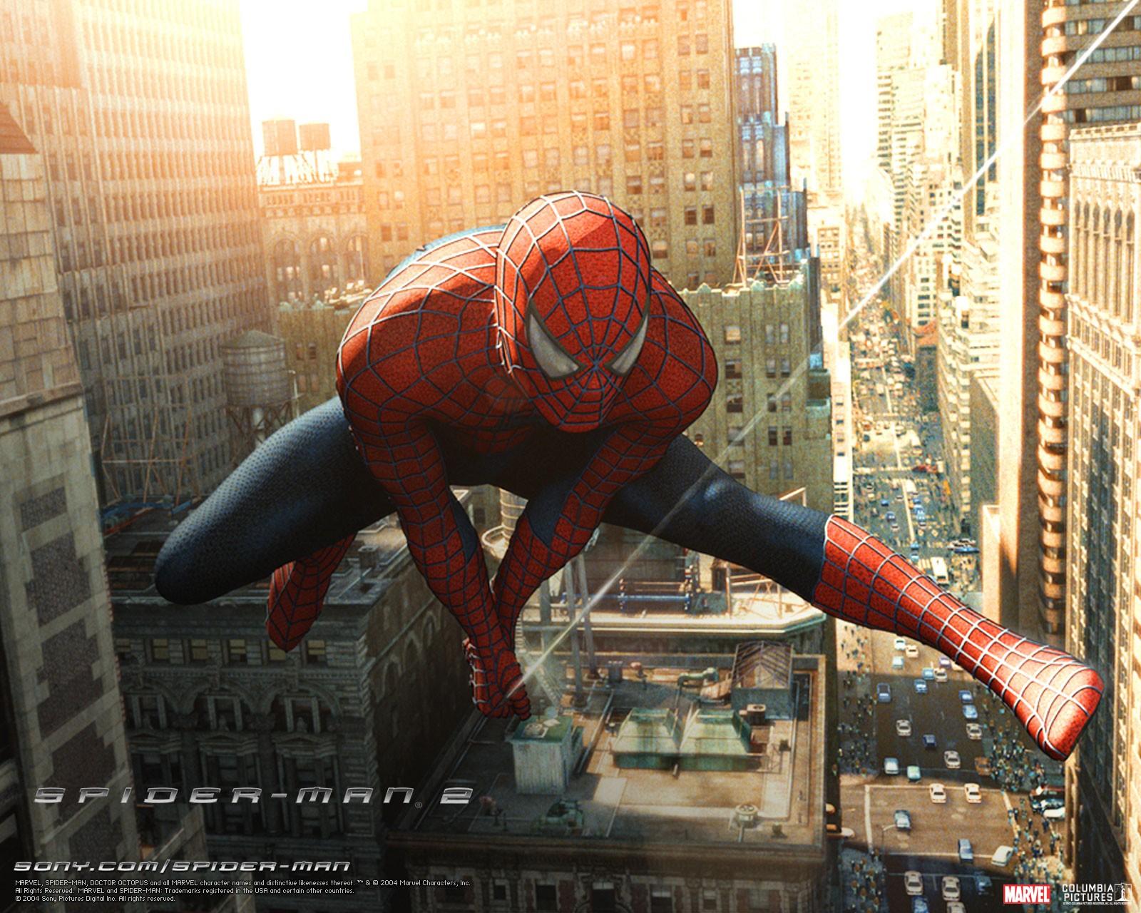 Un wallpaper del film 'Spider-Man 2'
