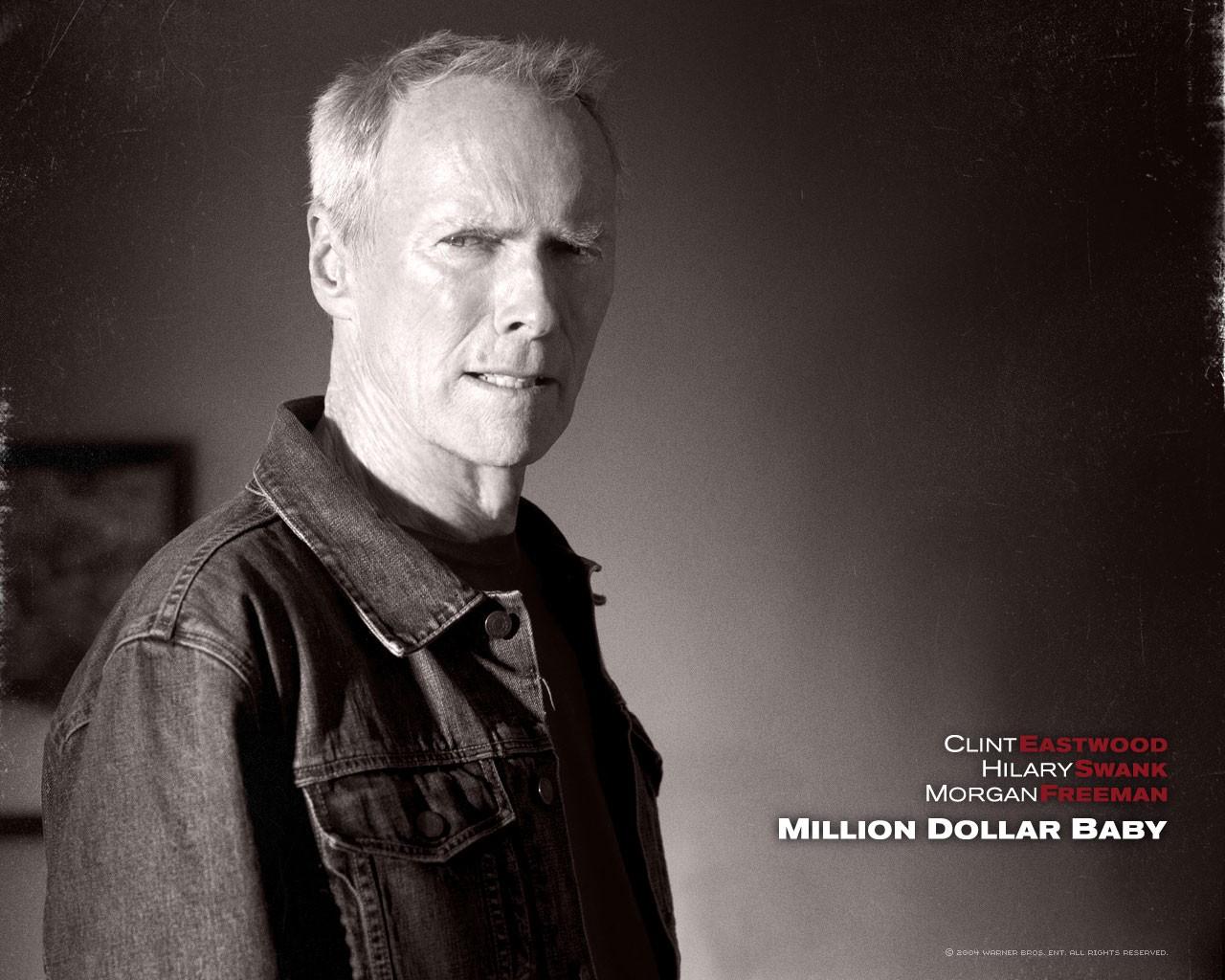 Un wallpaper di Clint Eastwood nel film 'Million Dollar Baby'