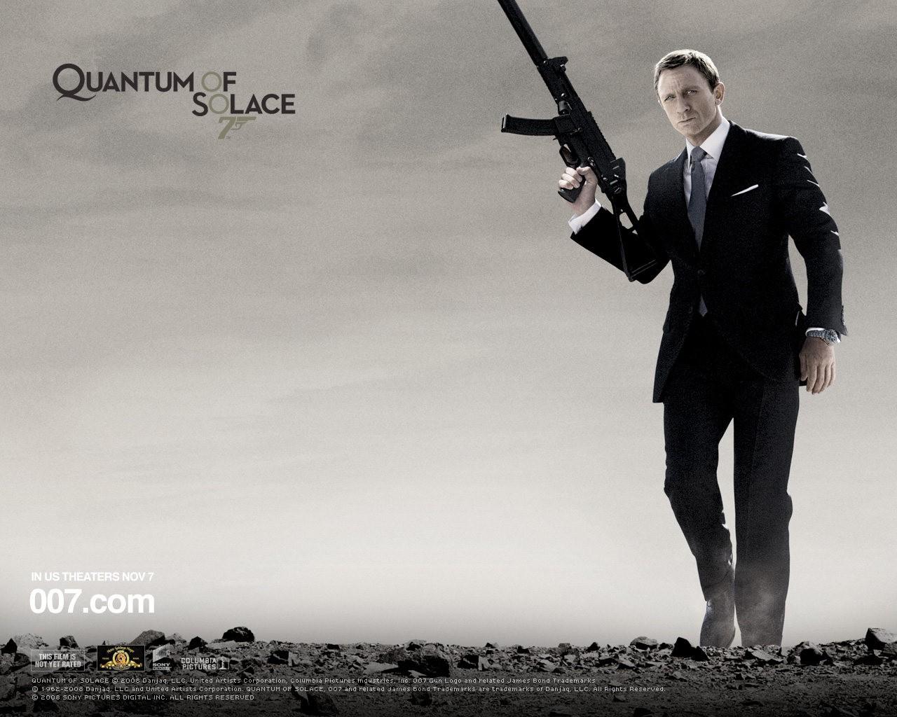 Un wallpaper di Daniel Craig per il film Quantum of Solace
