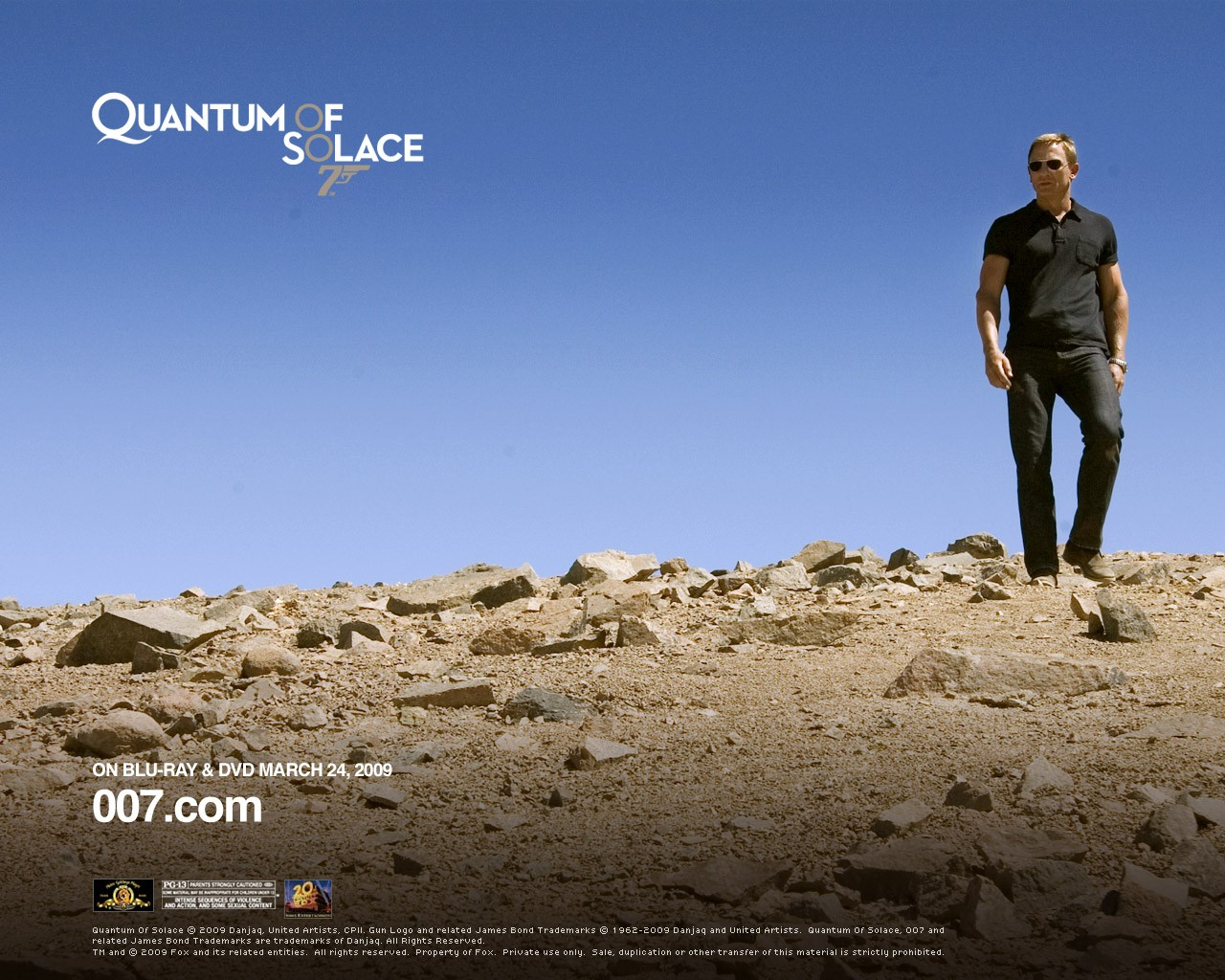 Un wallpaper di Daniel Craig per il film 'Quantum of Solace'