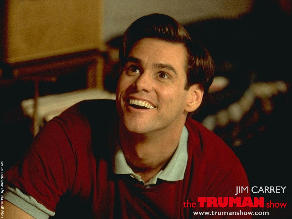 Un wallpaper di Jim Carrey per il 'The Truman Show'