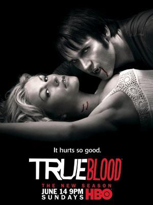 Il poster della seconda stagione della serie tv True Blood