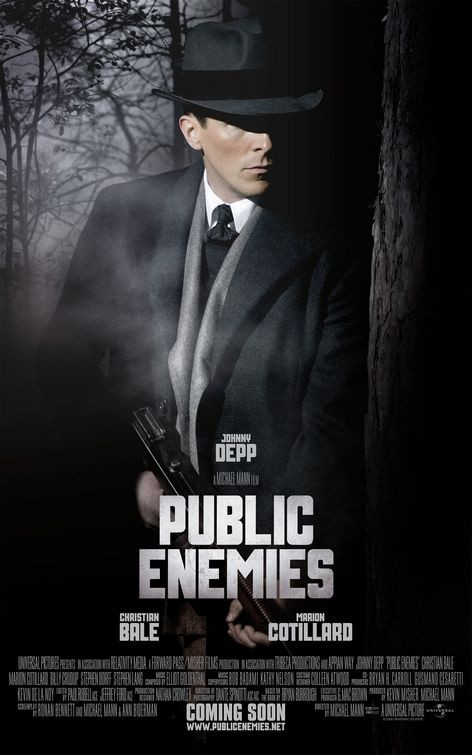 Character poster di Nemico Pubblico (Public Enemies, 2009) con Christian Bale.