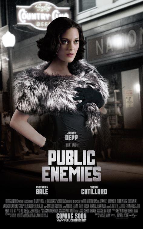 Character poster di Nemico Pubblico (Public Enemies, 2009) con Marion Cotillard