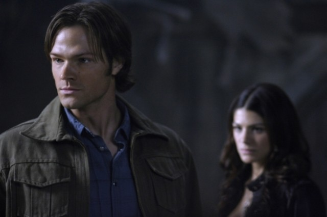 Jared Padalecki in una scena dell'episodio Lucifer Rising di Supernatural