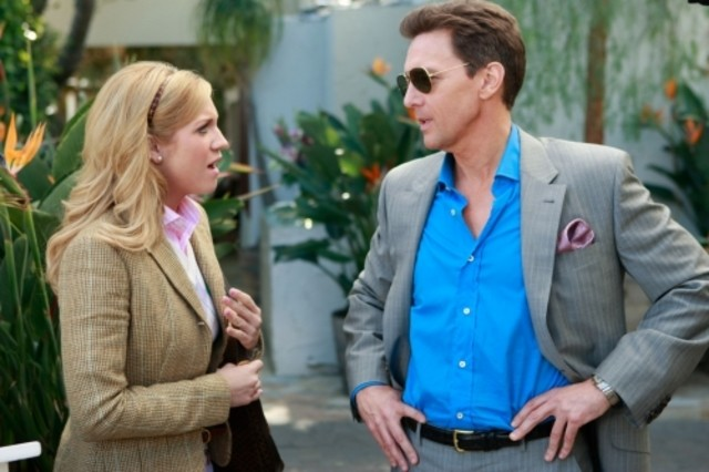 La guest star Brittany Snow ed Andrew McCarthy nell'episodio Valley Girls di Gossip Girl