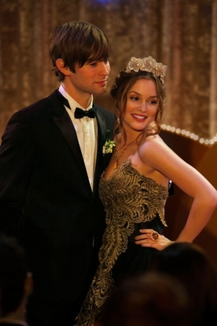 Leighton Meester e Chace Crawford in un momento dell'episodio Valley Girls di Gossip Girl