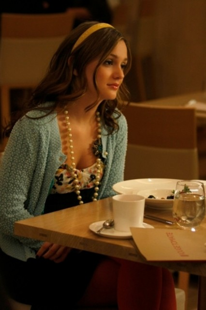 Leighton Meester in una scena dell'episodio The Goodbye Gossip Girl di Gossip Girl