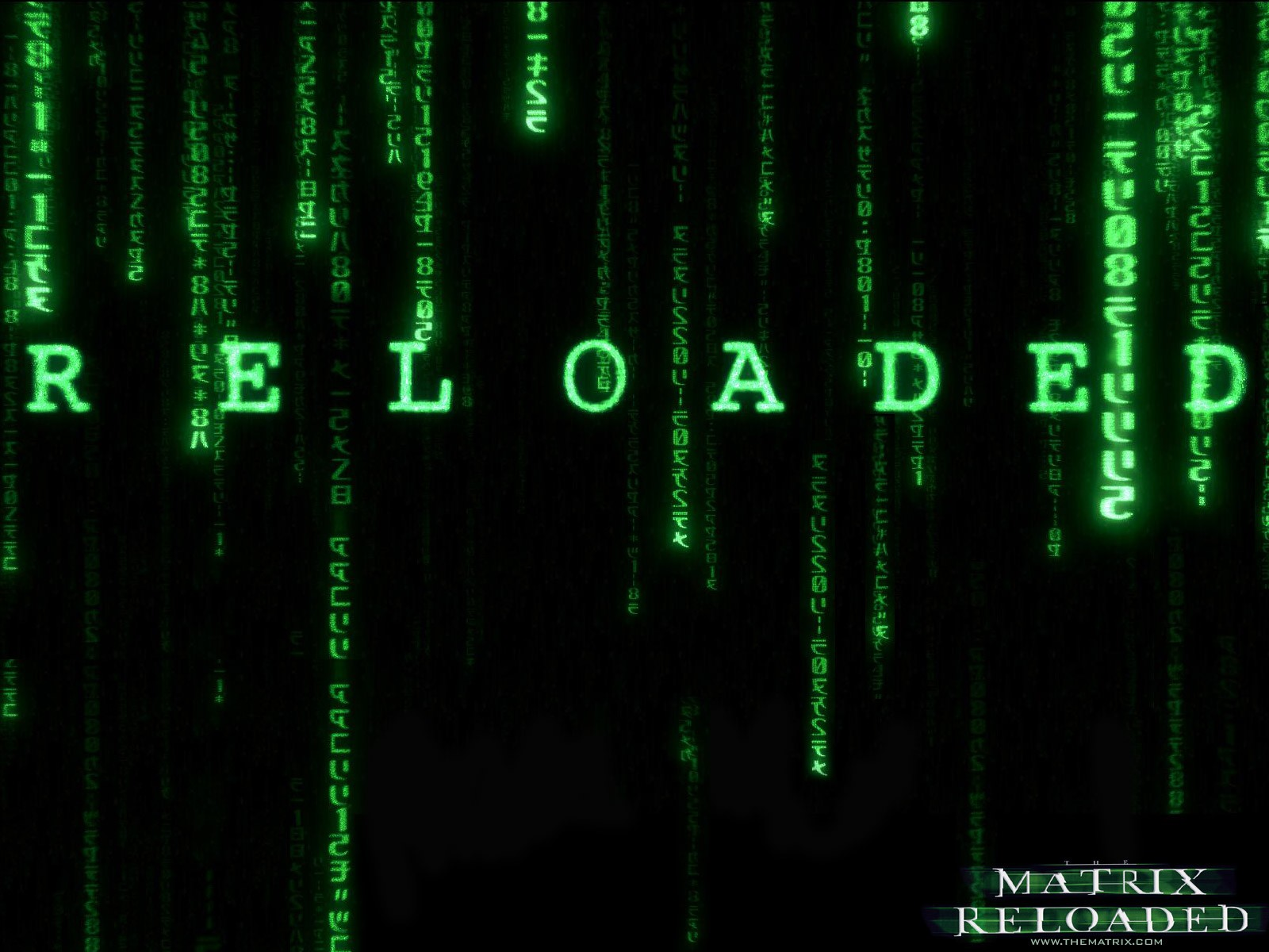 Un wallpaper del film 'Matrix Reloaded'