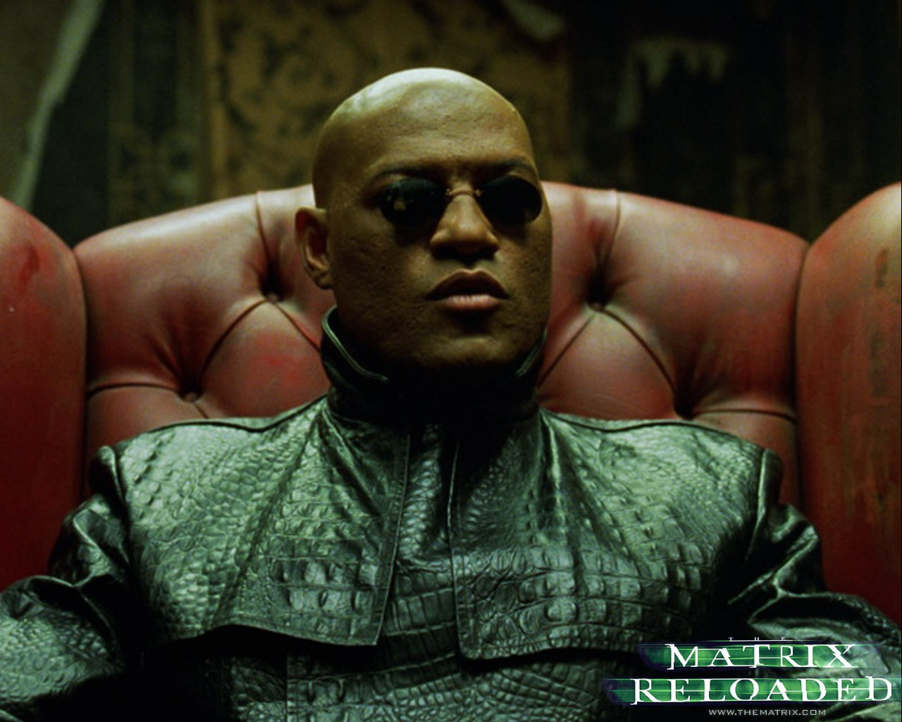Un wallpaper di Morpheus del film 'Matrix Reloaded'