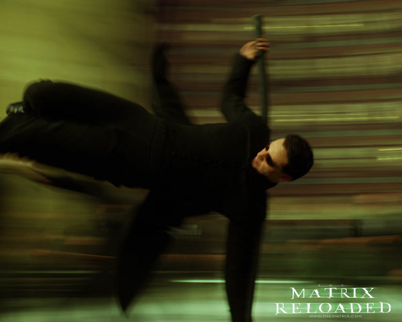 Un wallpaper di Neo del film 'Matrix Reloaded'