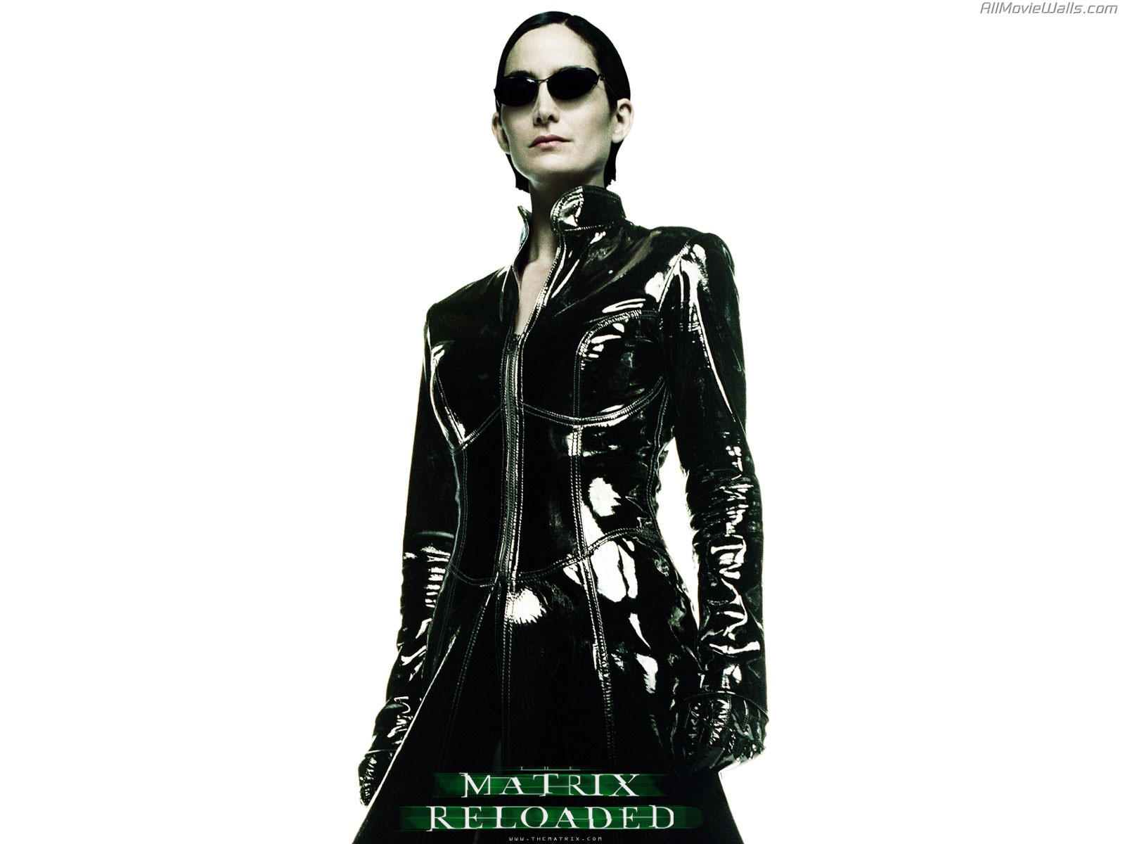 Wallpaper: Carrie-Anne Moss è Trinity nel film 'Matrix Reloaded'