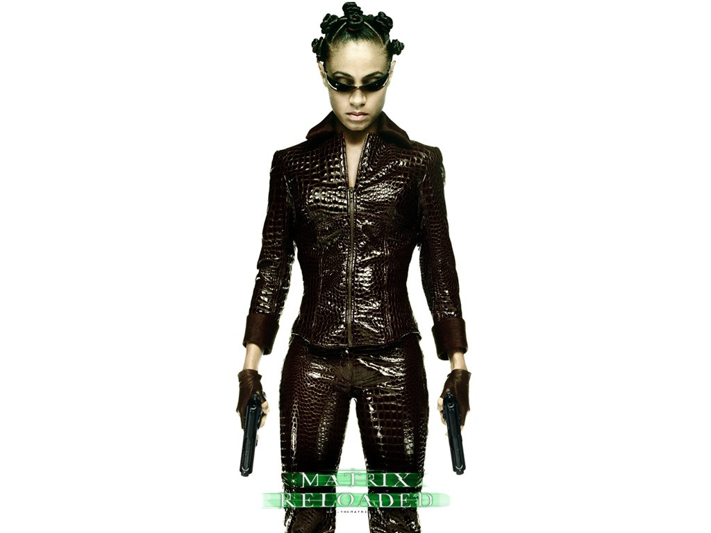 Wallpaper: Jada Pinkett Smith è Niobe nel film 'Matrix Reloaded'