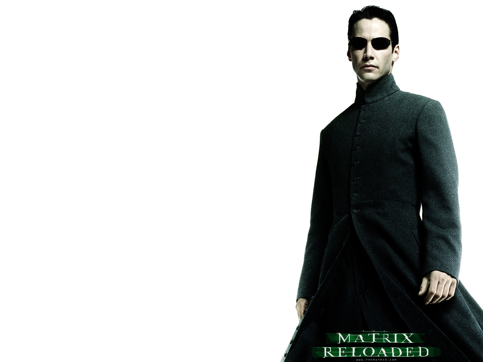 Wallpaper: Keanu Reeves è Neo nel film 'Matrix Reloaded'