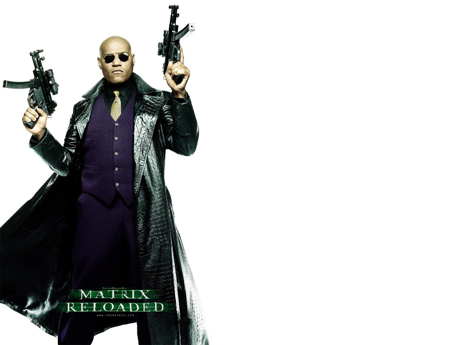 Wallpaper: Laurence Fishburne è Morpheus nel film 'Matrix Reloaded'