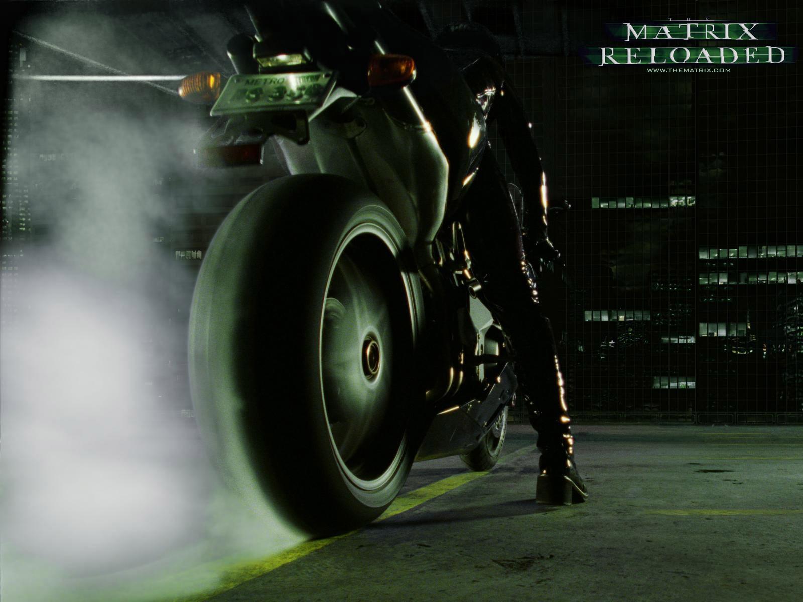 Wallpaper sgommata del film 'Matrix Reloaded'