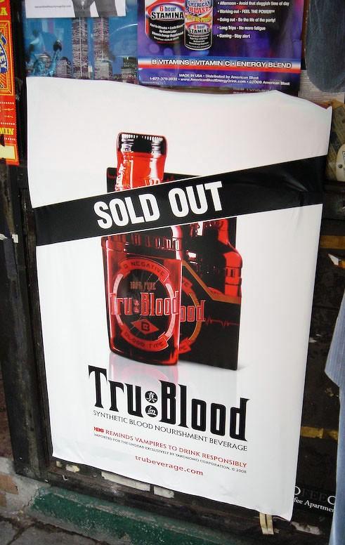 Esempio di marketing virale per la campagna di promozione per la serie 'True Blood'