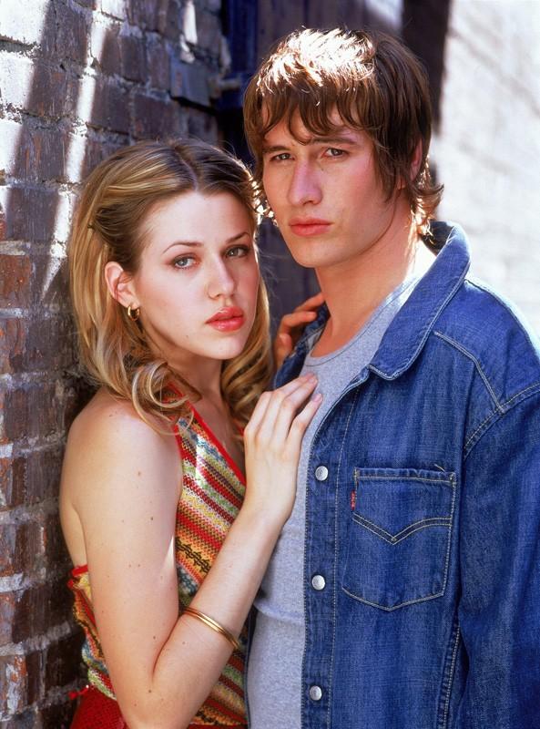 La coppia formata da Maria e Michael (Delfino e Fehr) per il telefilm Roswell