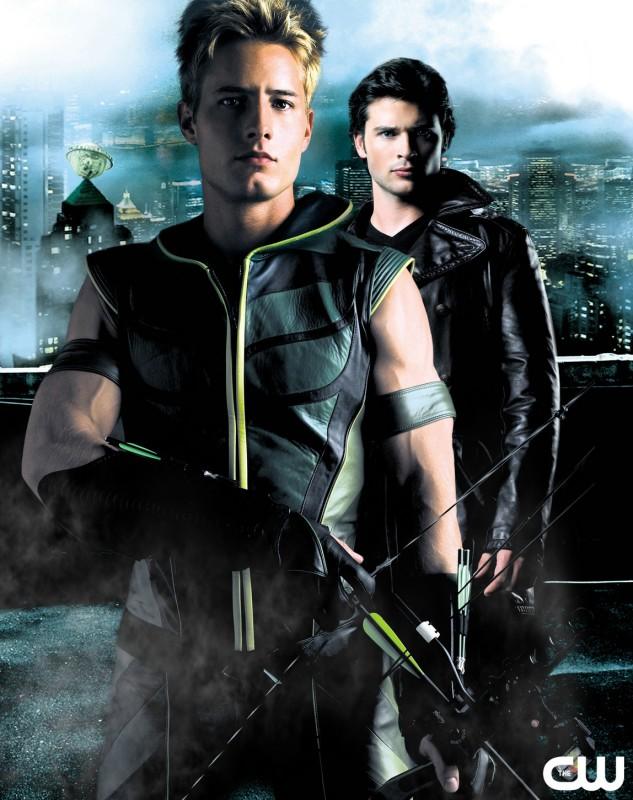 Immagine pubblicitaria con Justin Hartley e Tom Welling della 6 serie di Smallville