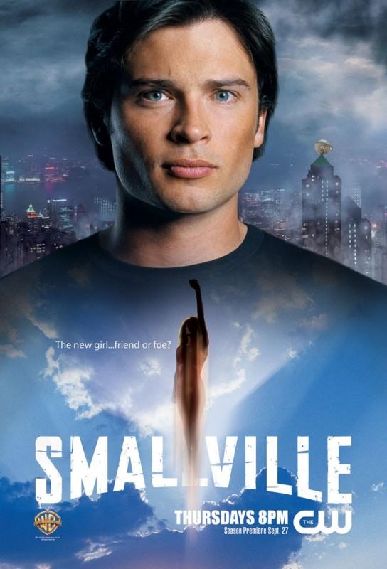Un manifesto con Tom Welling per la settima stagione di Smallville