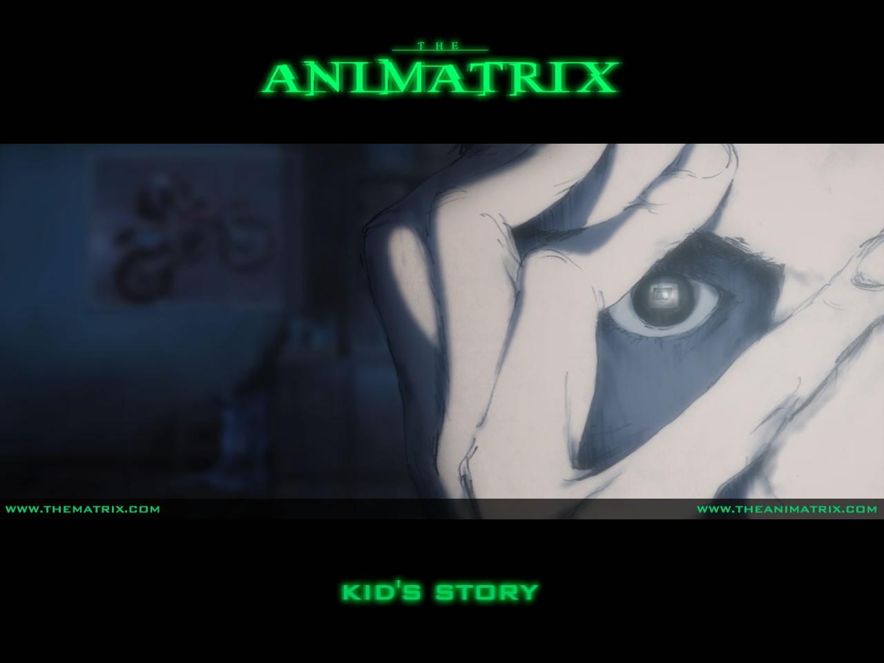 Un wallpaper dell'episodio 'Kid's Story' di Animatrix