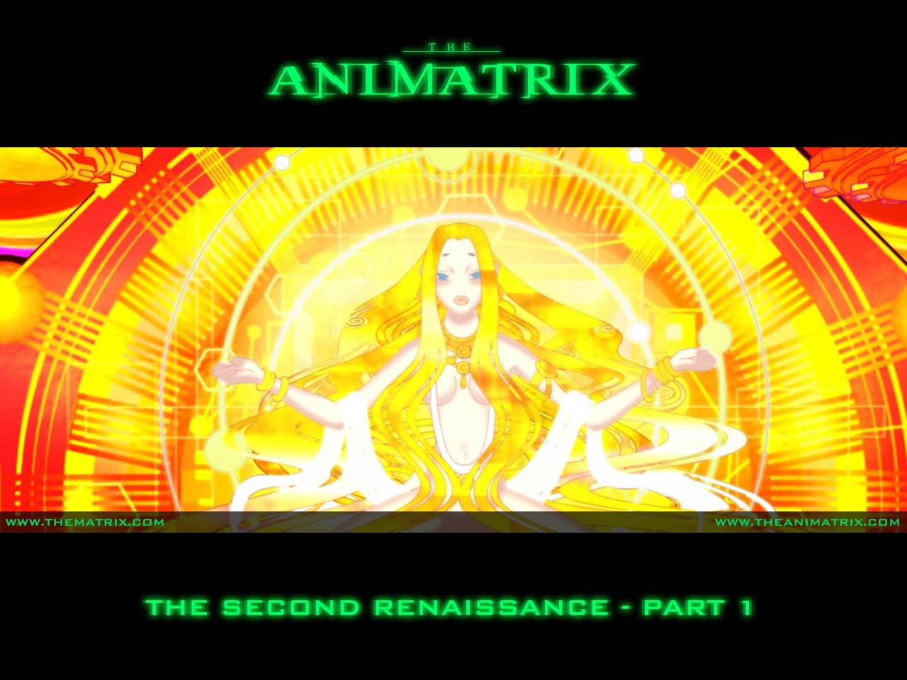 Un wallpaper dell'episodio 'The Second Renaissance, Part 1' di Animatrix