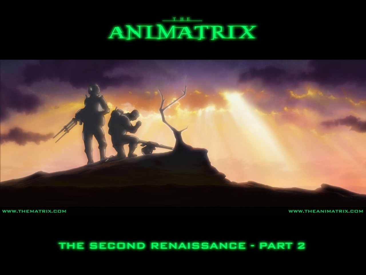 Un wallpaper dell'episodio 'The Second Renaissance, Part 2' di Animatrix
