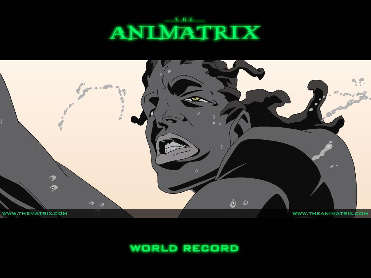 Un wallpaper dell'episodio 'World Record' di Animatrix