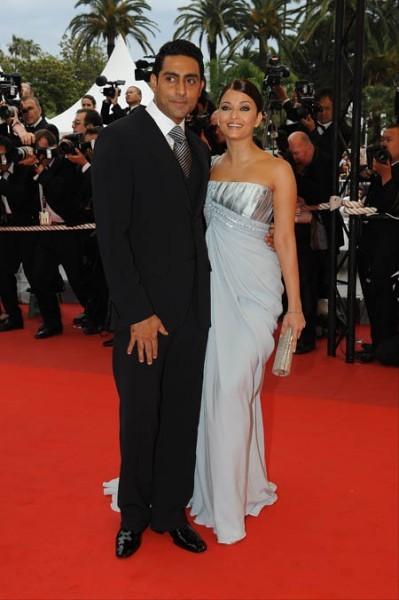 Cannes 2009: l'incantevole Aishwarya Rai con suo marito