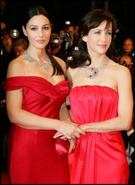 Cannes 2009: Monica Bellucci e Sophie Marceau, le signore in rosso del Festival