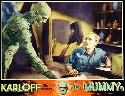 Lobbycard a colori de La mummia