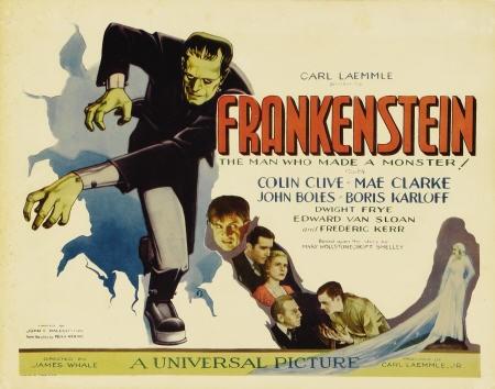 Lobbycard promozionale di Frankenstein