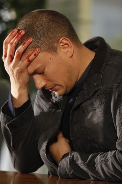 Wentworth Miller in una scena dell'episodio Killing Your Number di Prison Break