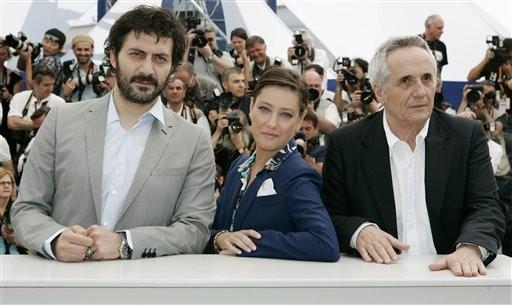 Cannes 2009: Filippo Timi e Giovanna Mezzogiorno presentano Vincere, insieme al regista, Marco Bellocchio