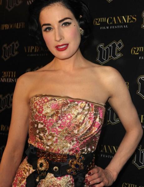 Cannes 2009: la sexy star del burlesque, Dita Von Teese