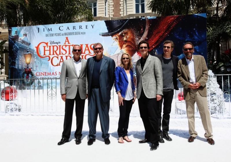 Cannes 2009: Robert Zemeckis, Robin Wright Penn, Jim Carrey e Colin Firth alla presentazione di A Christmas Carol