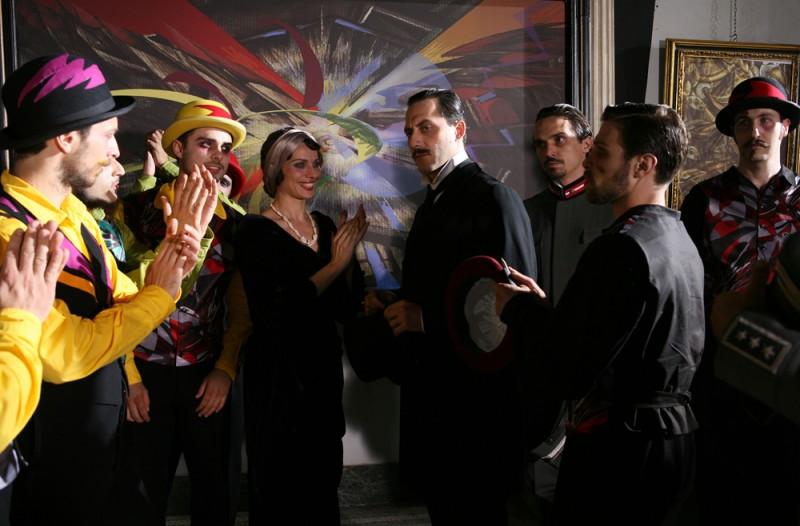 Filippo Timi in una scena del film Vincere diretto da Marco Bellocchio