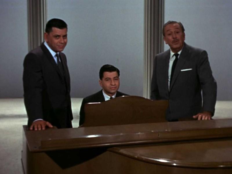 Robert B. Sherman, Richard M. Sherman e Walt Disney in una scena del documentario The Boys: The Sherman Brothers' Story