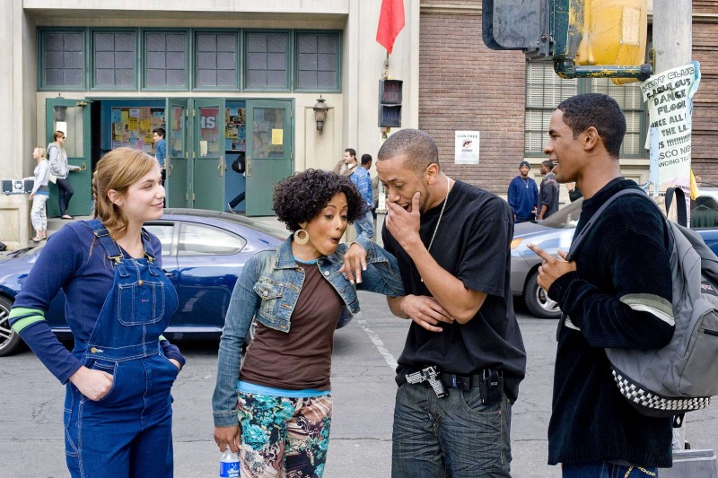 Shoshana Bush, Essence Atkins, Affion Crockett e Damon Wayans Jr. in una scena del film Dance Flick