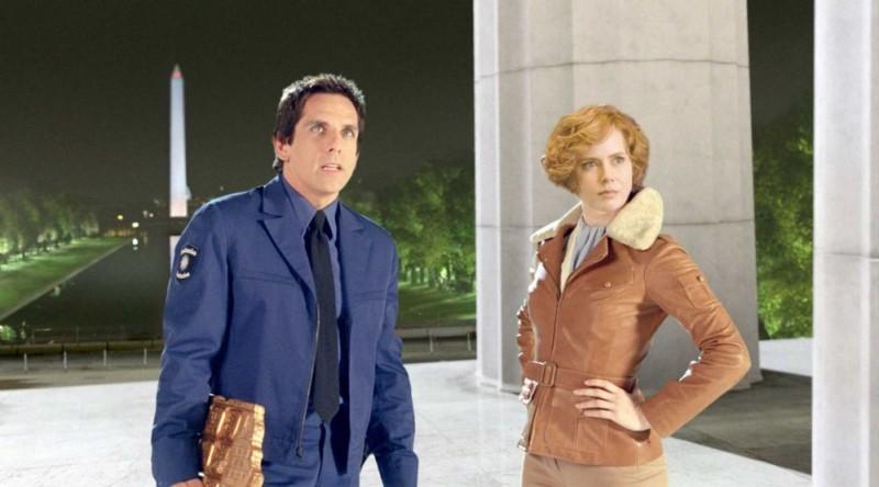 Ben Stiller e Amy Adams in un'immagine del film Una notte al museo 2: la fuga