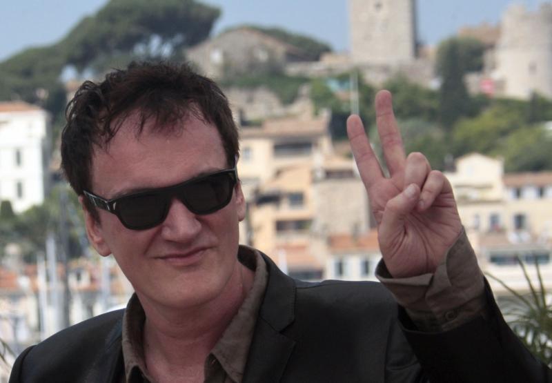 Quentin Tarantino a Cannes per presentare il suo Bastardi senza gloria