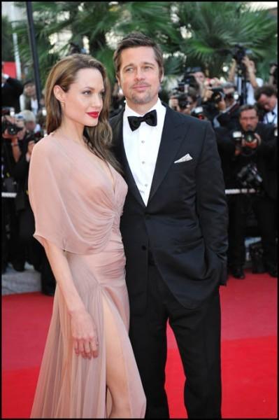 Cannes 2009: Brad Pitt con Angelina Jolie. L'attore ha presentato Bastardi senza gloria, di Quentin Tarantino