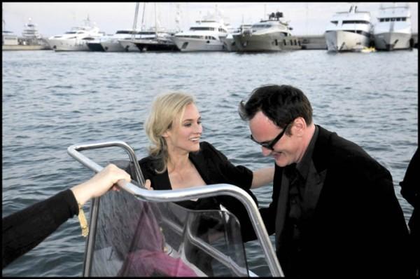 Cannes 2009: Tarantino con Diane Kruger. Il regista italoamericano ha presentato il suo Bastardi senza gloria