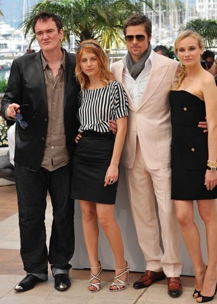Cannes 2009: Tarantino e i suoi Bastardi senza gloria: Melanie Laurent, Bard Pitt e la splendida Diane Kruger