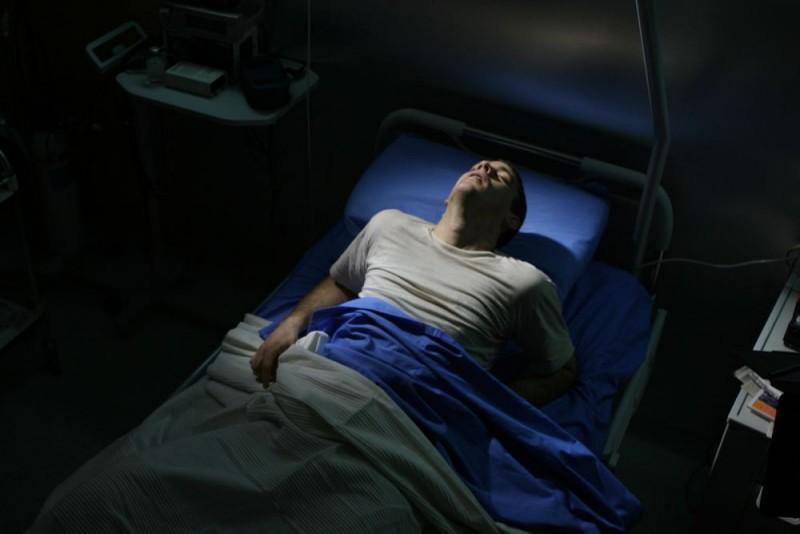 Henry Garrett in un'immagine del thriller Visions diretto da Luigi Cecinelli